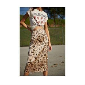 Forever 21 cheetah print satin skirt